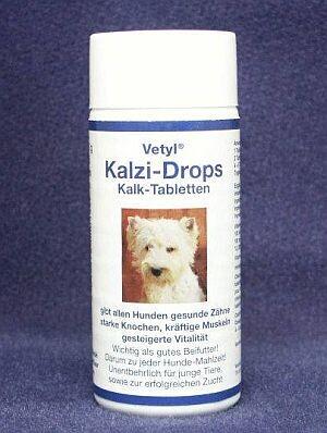 Kalzi-Drops Vetyl 125 Stück-Dose für Hunde