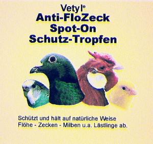 Vetyl Anti-FloZeck Spot-On Schutz-Tropfen für Vögel  50 ml
